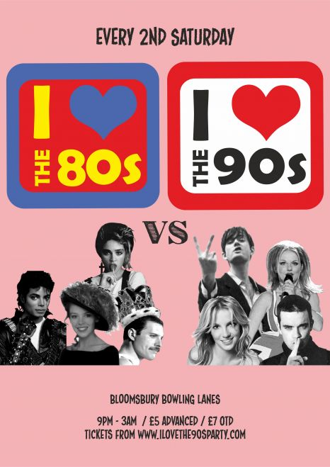 I Love The 80's vs 90's Party
